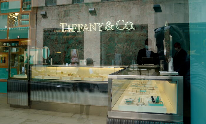 A Tiffany & Co. store is pictured in the Manhattan borough of New York City, on Sept. 10, 2020. (Carlo Allegri/Reuters)