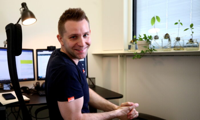 Austrian lawyer and privacy activist Max Schrems sits in his office ahead of a Reuters interview in Vienna, Austria, on July 16, 2020. (Lisi Niesner/Reuters)