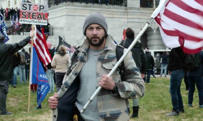 A photo allegedly showing Mark Ibrahim, a former DEA agent, during the Jan. 6 Capitol incident. (Department of Justice)