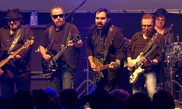 The Blue Oyster Cult will take center stage at the Pacific Amphitheater on Aug. 11, 2021, in a concert also featuring Cheap Trick. (Courtesy of Blue Oyster Cult)