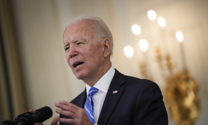 President Joe Biden speaks about the nation's economic recovery at the White House, in Washington, on July 19, 2021. (Drew Angerer/Getty Images)