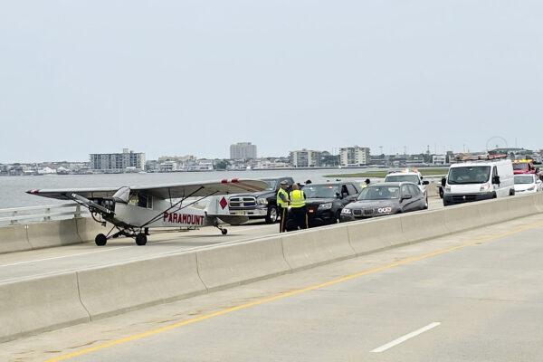 Plane Lands on Bridge