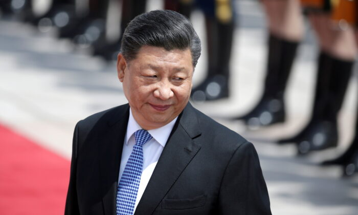 Chinese President Xi Jinping attends a welcoming ceremony for Greek President Prokopis Pavlopoulos outside the Great Hall of the People, in Beijing, China on May 14, 2019. (Jason Lee/File Photo/Reuters)