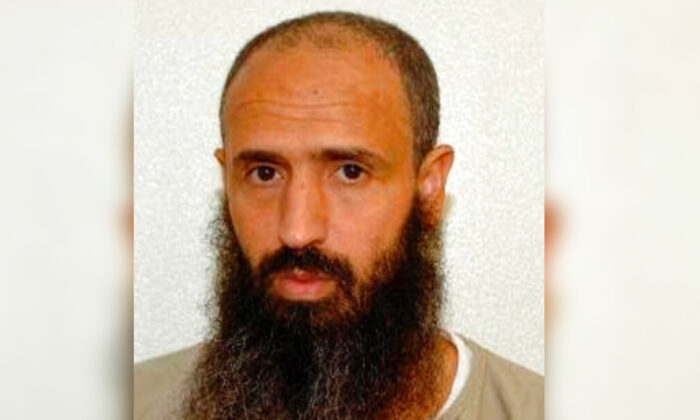 Abdullatif Nasser at the Guantanamo Bay detention center in Guantanamo Bay, Cuba, in an undated photo. (Shelby Sullivan-Bennis via AP)