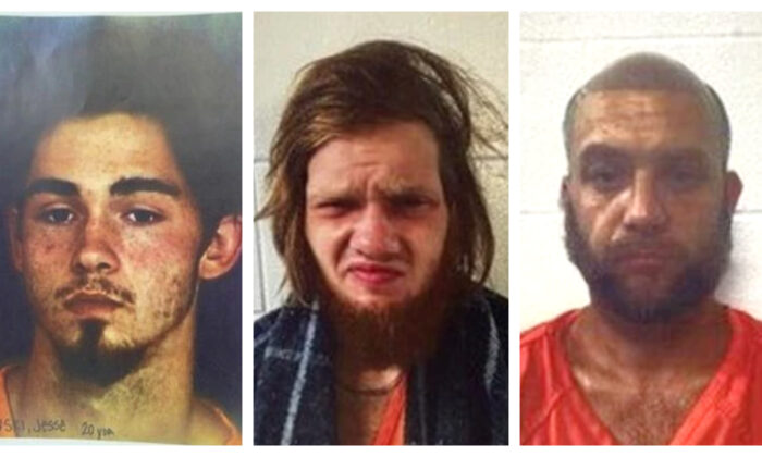 Jesse Pawlowski (L), Dylan Welch (C), and Billy Phillips (R). (Cherokee County Jail)