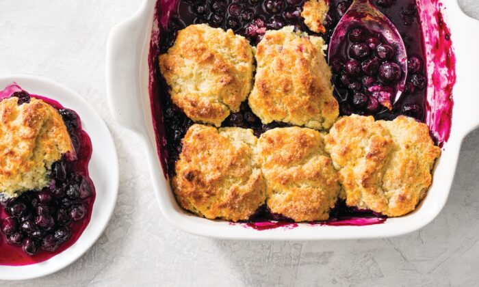 This tasty treat features sweet, tart blueberries and a flaky biscuit topping. (Catrine Kelty)
