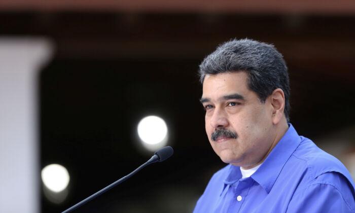 Venezuela's President Nicolas Maduro speaks during an event with the youth of Venezuela's United Socialist Party in Caracas, Venezuela, on June 22, 2020. (Miraflores Palace/Handout via Reuters)
