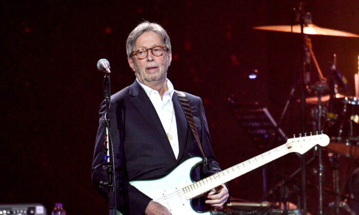 Eric Clapton performs on stage during Music For The Marsden 2020 at The O2 Arena in London, England, on March 3, 2020. (Gareth Cattermole/Getty Images)