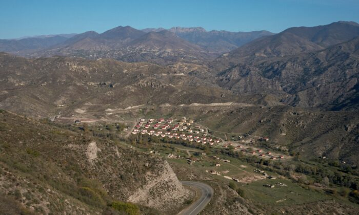 A view shows a settlement in the region of Nagorno-Karabakh, on Nov. 10, 2020. (Francesco Brembati/Reuters)
