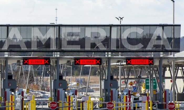 The United States border crossing is seen on March 18, 2020 in Lacolle, Quebec. (The Canadian Press/Ryan Remiorz)