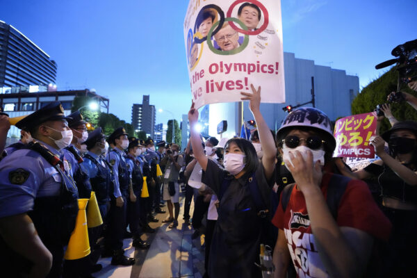 Anti-Olympics protesters