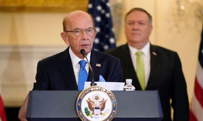 Then-Commerce Secretary Wilbur Ross speaks during a news conference on Sept. 21, 2020. (Patrick Semansky/POOL/AFP via Getty Images)