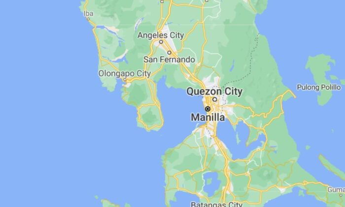 A map of Manila, Philippines. (Google Maps)