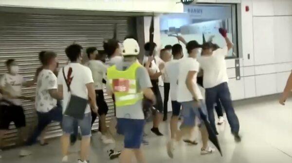 attacker in white Hong Kong