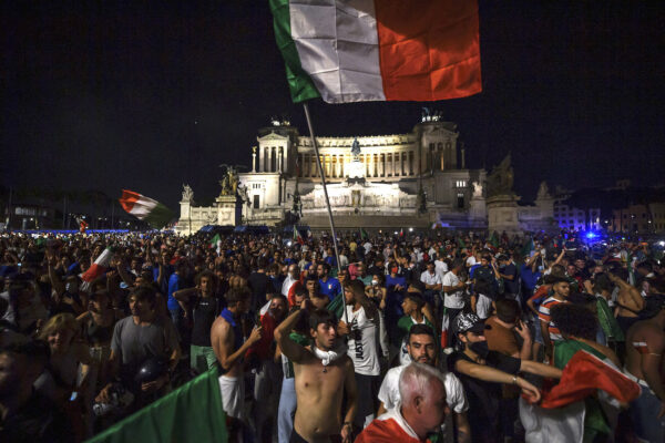 Italy Fans Support The National Team In The Euros 2020 Final