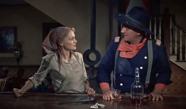 _A southern belle with a Union officier