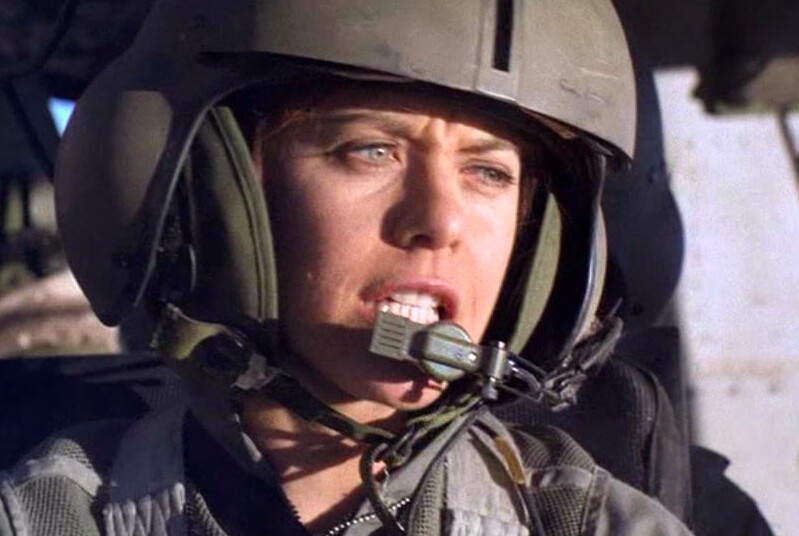 Female helicopter pilot in Courage Under Fire