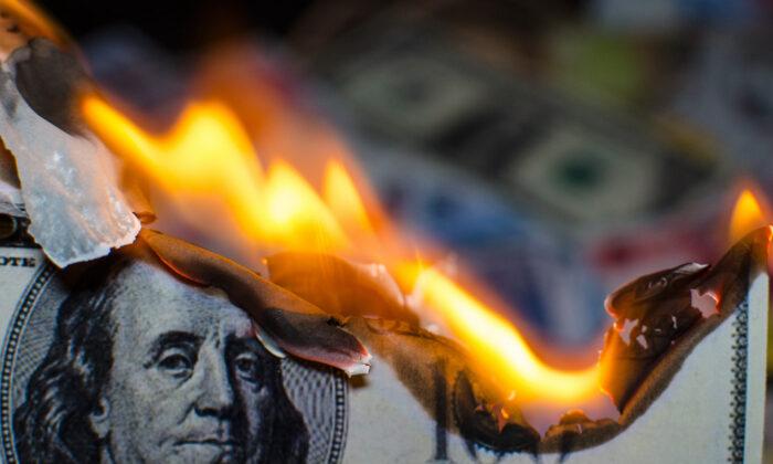 A $100 bill is on fire. GSI Exchange