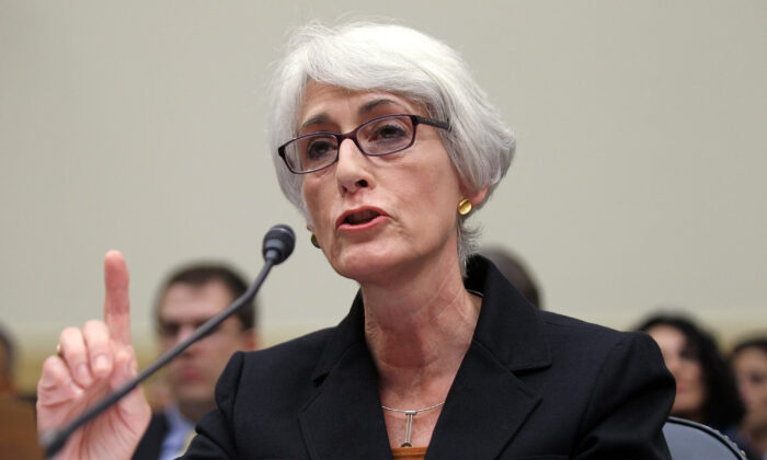 U.S. Undersecretary of State for Political Affairs Wendy Sherman testifies during a hearing before the House Foreign Affairs Committee on Capitol Hill in Washington, on Oct. 14, 2011. (Alex Wong/Getty Images)