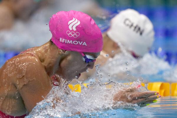Yuliya Efimova of the Russian Olympic Committee swims