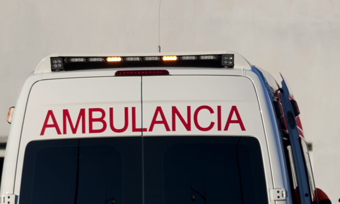 An ambulance in Spain in a file photo. (Jorge Guerrero/AFP via Getty Images)