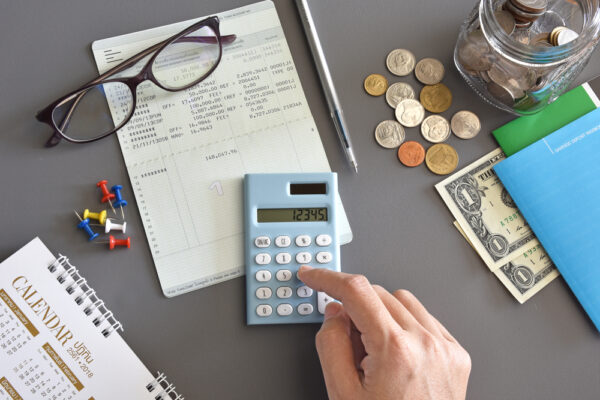 Accountant,Verify,The,Saving,Account,Book,And,Statement,Of,Financial