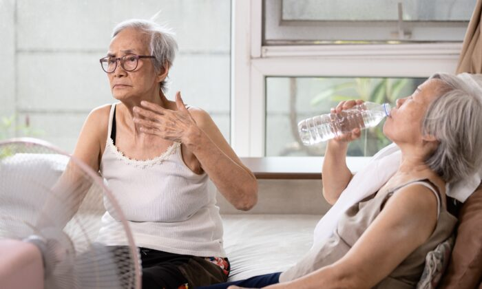 Age, as well as many common medications, diminishes our bodies' ability to stay cool, putting many seniors at risk of heatstroke. (CGN089/Shutterstock)