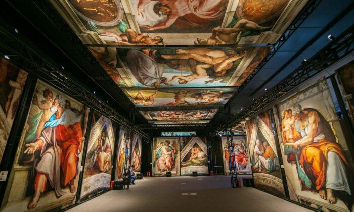 """Michelangelo's Sistine Chapel: The Exhibition"" in the Chicago area. (SistineChapel)"