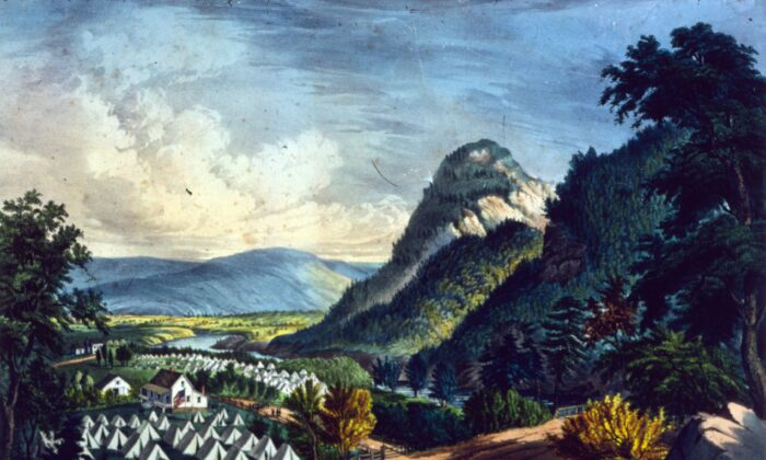 The Shenandoah Valley in Virginia, circa 1864, when intense fighting took place in the American Civil War. Printed by Currier & Ives. (Photo by MPI/Getty Images)