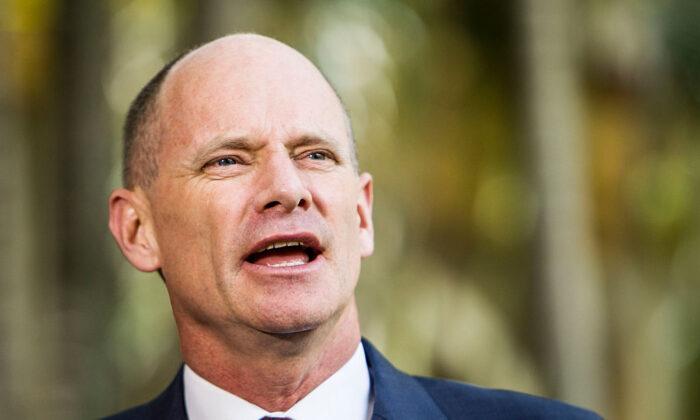 Former Queensland Premier Campbell Newman speaks to media at Parliament House in Brisbane, Australia, on Jan. 6, 2015. (Glenn Hunt/Getty Images)