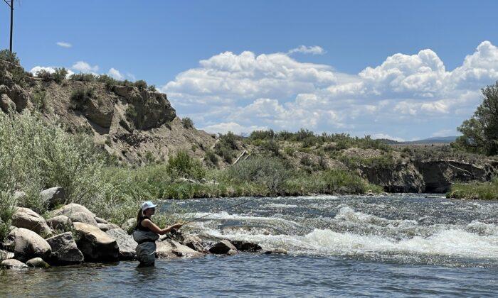 Fly fishing near Vail. (Janna Graber)