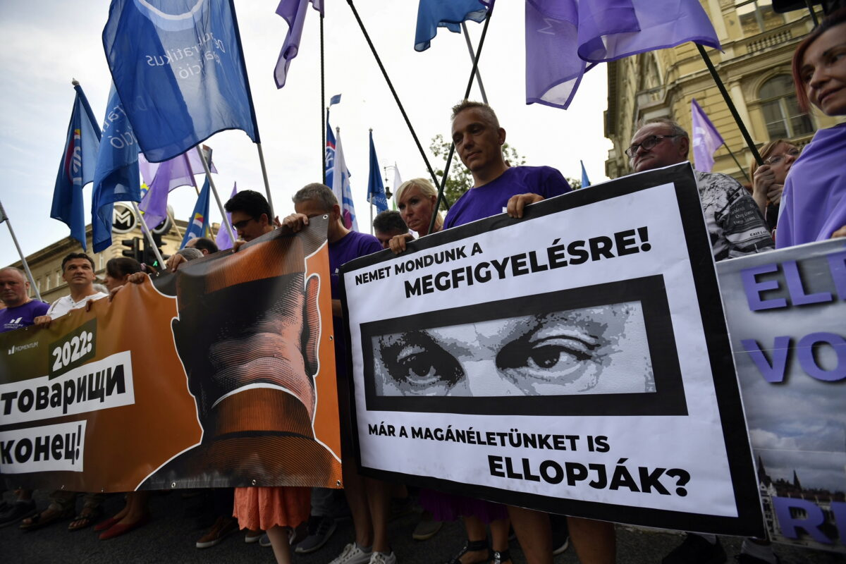 Protest against the Hungarian government
