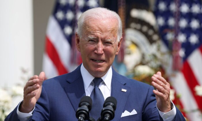 U.S. President Joe Biden delivers remarks during an event to celebrate the 31st anniversary of the Americans with Disabilities Act (ADA) in the White House Rose Garden in Washington, on July 26, 2021. (Evelyn Hockstein/Reuters)