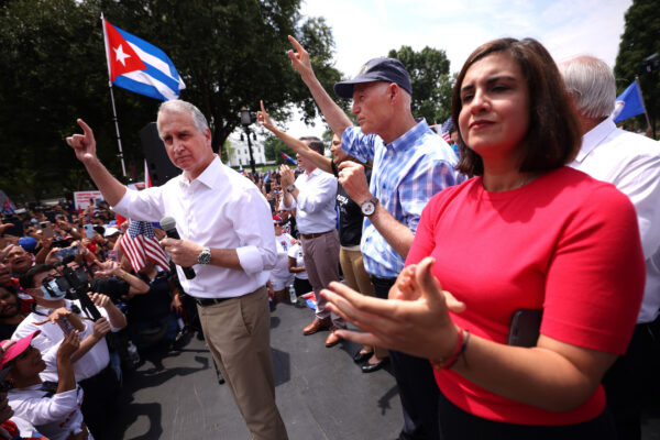 Republican politician attends rally for Cuban people