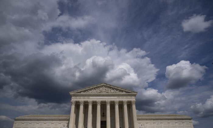 The U.S. Supreme Court building in Washington on May 17, 2021. The Supreme Court said that day that it will hear a Mississippi abortion case that challenges Roe v. Wade. (Drew Angerer/Getty Images)