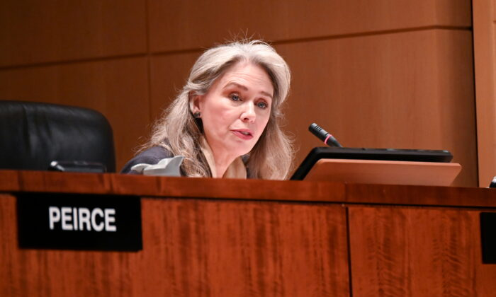 Commissioner Allison Lee participates in a U.S Securities and Exchange Commission open meeting in Washington, U.S., December 18, 2019. (Erin Scott/File Photo/Reuters)