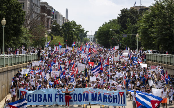March And Rally In Support Of The Cuban People Held In Washington, D.C.