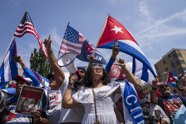 March and rally to support Cubans in Washington, DC