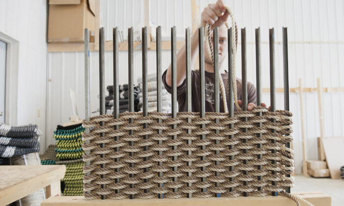The Rope Co.'s products are handwoven from commercial-grade fishing rope. (Nicole Wolf)