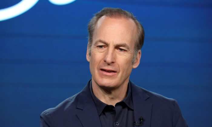 """Bob Odenkirk speaks at the AMC's """"Better Call Saul"""" panel during the AMC Networks TCA 2020 Winter Press Tour in Pasadena, Calif., on Jan. 16, 2020. (Willy Sanjuan/Invision/AP)"""