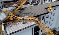 Crane Collapses on Milan Building Amid Hailstorm