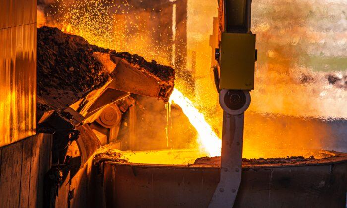 A furnace pouring steel. (yasin hm / Unsplash)