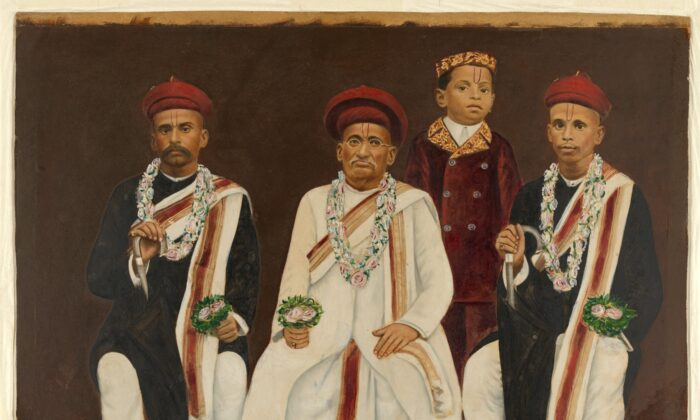 Gujarati family group portrait. (Supplied, National Gallery of Australia)