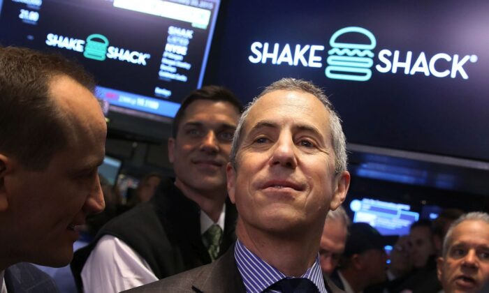 Founder and Chairman of Shake Shack, Danny Meyer, visits the floor of the New York Stock Exchange (NYSE) in New York City on Jan. 30, 2015. (Spencer Platt/Getty Images)