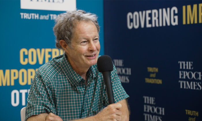 Whole Foods CEO John Mackey at the FreedomFest conference in Rapid City, South Dakota on July 24, 2021. (Zhen Wang/The Epoch Times)