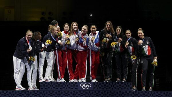 Fencing-Women's Team Foil-Medal Ceremony
