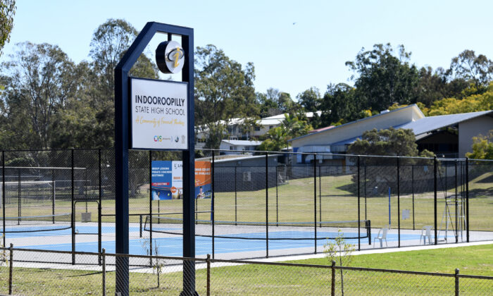 A view of Indooroopilly State High School in Brisbane, Friday, July 30, 2021. (AAP Image/Dan Peled)