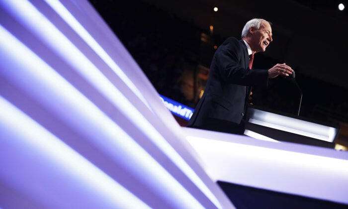 File photo showing Arkansas Gov. Asa Hutchinson speaking at the Republican National Convention in Cleveland, Ohio, on July 19, 2016. (Chip Somodevilla/Getty Images)