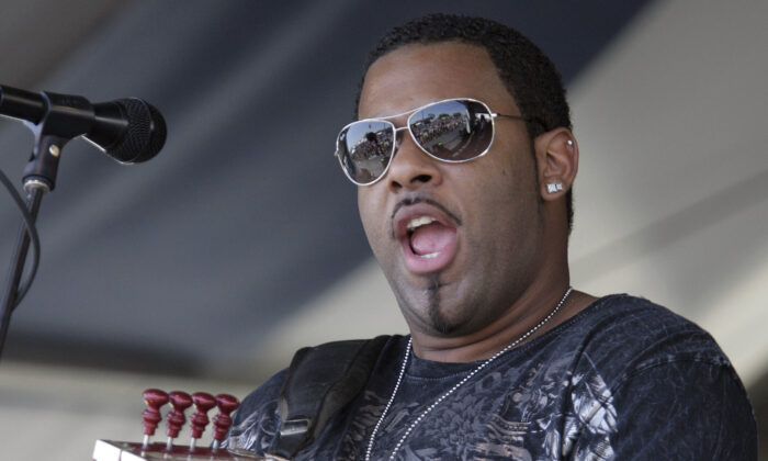 Chris Ardoin, of Chris Ardoin & NuStep, performs during the 2008 New Orleans Jazz & Heritage Festival at the New Orleans Fairgrounds Racetrack in New Orleans, La., on May 4, 2008. (Dave Martin/AP Photo)