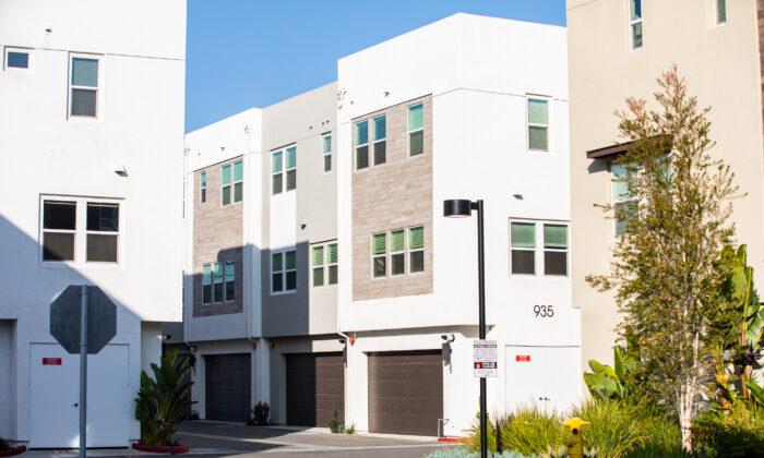 An apartment development in Anaheim, Calif., on Jan. 8, 2021. (John Fredricks/The Epoch Times)